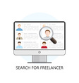 Search for Freelancer Icon vector image
