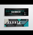 set of banner template designgraphic or website vector image vector image