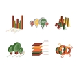 Set of Business Flat 3D Design Graph vector image vector image