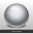 Sphere glass template vector image vector image