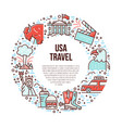the usa symbols in line style vector image vector image