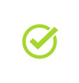 tick icon symbol green checkmark isolated vector image vector image