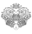 tribal fusion boho diva beautiful girl vector image