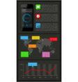 Ui infographics and web elements vector image vector image