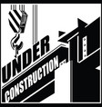 under construction crane and beam vector image