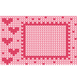 valentines stitch vector image vector image