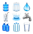 Water drinks icons set vector image