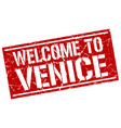 welcome to venice stamp vector image vector image