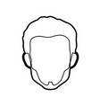 young man profile vector image vector image