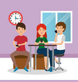 young people group in the workplace office vector image vector image
