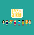 different pupils kids back to school vector image