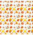 bomb explosion effect seamless pattern vector image