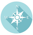 compass icon flat design with long shadow vector image