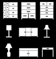 furniture icons set vector image