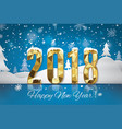 2018 happy new year snow backgroundmerry
