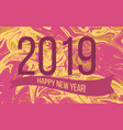 2019 happy new year holiday greeting card vector image vector image