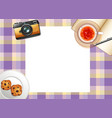 a top view table border vector image vector image