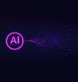 ai artificial intelligence concept neural vector image