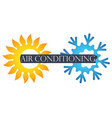air conditioner symbol vector image vector image