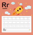 alphabet r worksheet learning english vocabulary vector image vector image