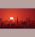 amman low sun skyline scene