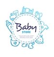 baby icons circle composition vector image vector image