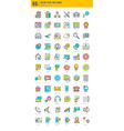 basic icons bundle vector image vector image