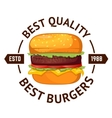 Best burgers Hamburger vector image