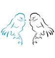 Birds sillhouette vector image vector image
