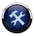 Blue honeycomb repair icon vector image