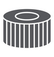 car filter glyph icon auto and part car detail vector image