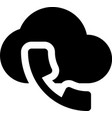 cloud call vector image vector image