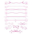 collection of handdrawn bordersunique swirls and vector image vector image