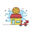 delivery of orders vector image