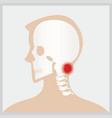 disease of head and neck vector image vector image