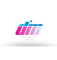 dm d m alphabet letter combination pink blue bold vector image vector image