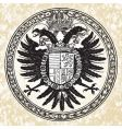 eagle ornate seal vector image vector image