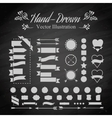 Emblem elements vector image vector image