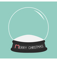 Empty crystal ball Template Merry Christmas card vector image vector image