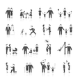 Family Icons Set Black vector image vector image