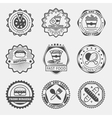 Fast food emblems logo or labels set vector image vector image