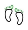 Feet Body vector image