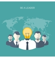 Flat Be a leader Ideas vector image