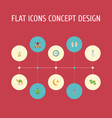 flat icons decorative new lunar ramadan kareem vector image vector image