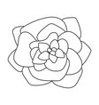 flower isolated icon vector image