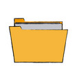 folder file document paper information icon vector image vector image