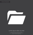 folder premium icon white on dark background vector image