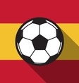 football icon with Spain flag vector image vector image