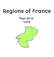 France administrative map of Pays de la Loire vector image