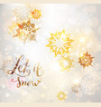 gold winter snowflakes vector image vector image